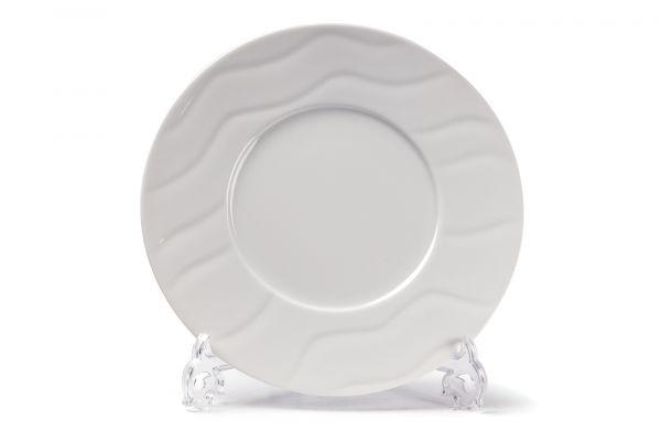 Тарелка рифленая обеденная 31 см, Tunisie Porcelaine, серия VAGUES