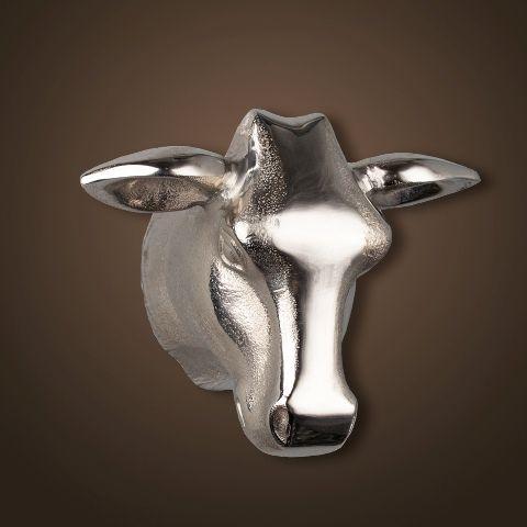 Декор ROOMERS «Голова быка» 20x16x12 см цвет хром 4095-N