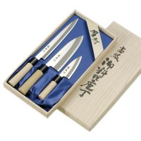 "Набор ножей Tojiro "" Ryuutoku-saku"" (Мини Дэба 105 мм Сантоку 170 мм Янагиба 210 мм) FC-123"