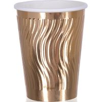 Стаканы картон, 250 мл золото 20 шт Mayer&Boch, 58501