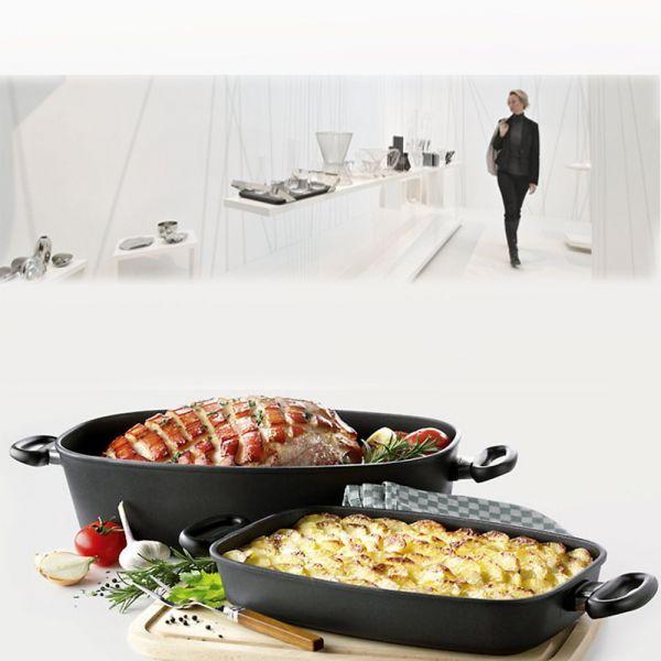 Утятница с крышкой AMT Frying Pans 33*21 см, AMT 3321