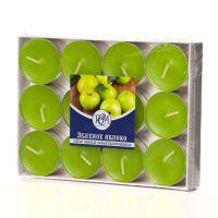 Свечи чайные Зеленое яблоко 24 шт