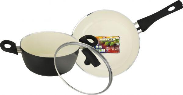 Набор посуды Vitesse Black-and-White 3 предметf VS-2900