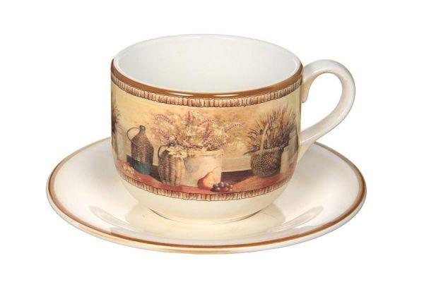 Чашка с блюдцем Натюрморт, LCS933_T_PV-AL