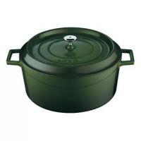Кастрюля LAVA GREEN 4,5 л 24 см литая чугунная с крышкой LVYTC24K2G