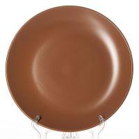 Тарелка коричневая, диаметр 25,5 см, высота 2,6 см