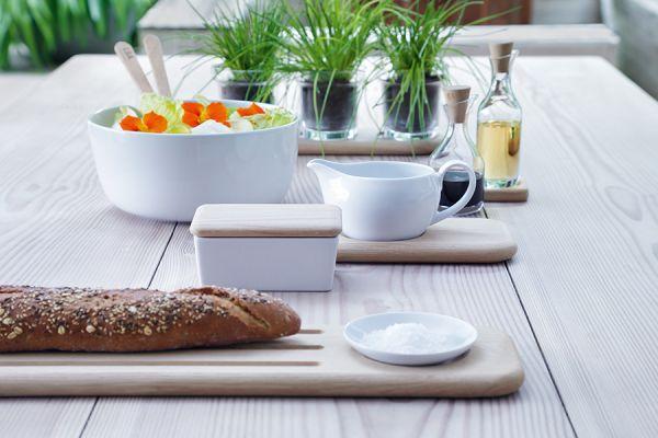 Блюдо глубокое dine с деревянными приборами d24 см P218-26-997