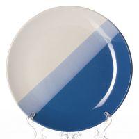 Тарелка сине-голубая, диаметр 25,5 см, высота 2,6 см