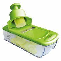 Терка для овощей, 4 элем. & толкатель безопасности, зеленая, MOHA 25225
