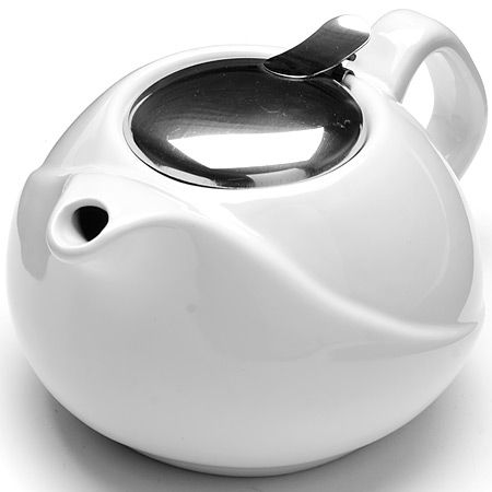 Заварочный чайник из керамики 750 мл белого цвета Lorain, 23057N4