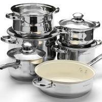 Набор посуды Mayer&Boch 12 предметов с керамической сковородой SILV, 4522