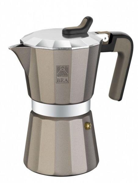 Кофеварка гейзерная на 6 чашек BRA Titanium
