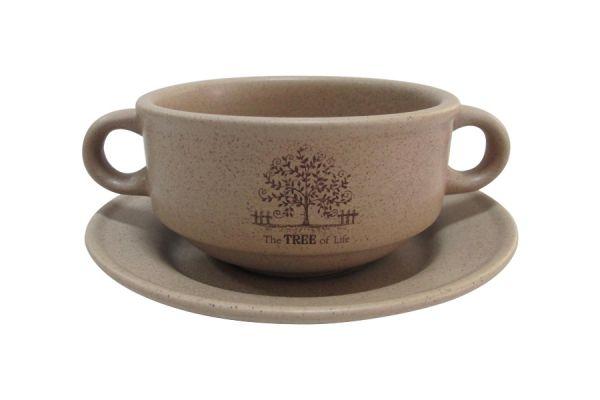 Суповая чашка на блюдце Дерево жизни, TLY923-TL-AL