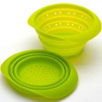 Дуршлаг складной зеленого цвета из силикона 23 см Mayer&Boch, 4431N3