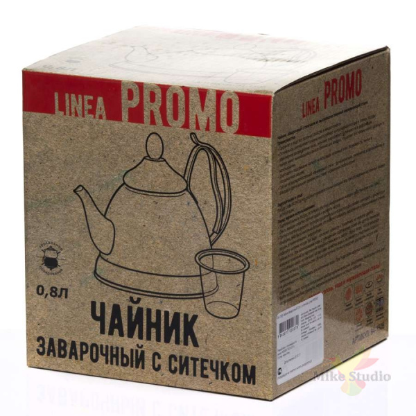 Чайник заварочный 0,8л с ситечком Linea PROMO Regent Inox 94-1505