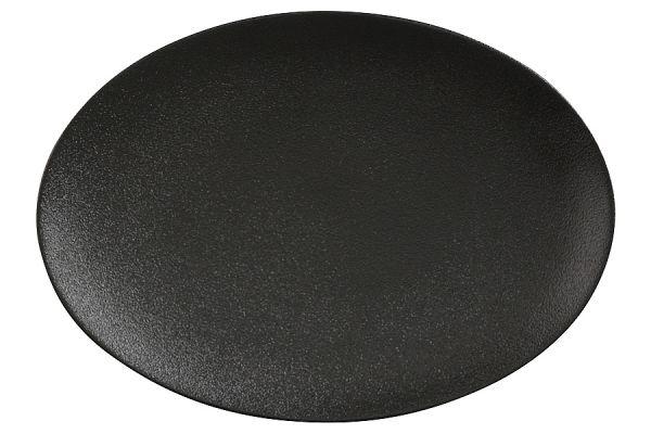 Тарелка овальная (чёрная) Икра без индивидуальной упаковки, MW602-AX0205