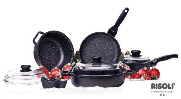 Набор посуды Risoli из 9 предметов в подарочной упаковке Granit, 03SET9PZ0HS0