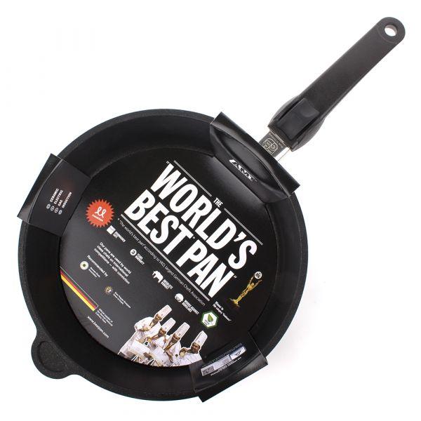 Сковорода глубокая 26 см AMT Frying Pans Titan для индукционных плит со съемной ручкой AMT I-726
