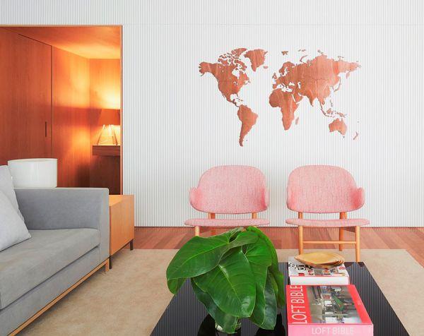 Карта-пазл Wall Decoration Exclusive, 180х108 см, африканское сапеле 19-13