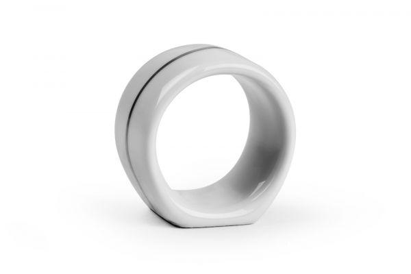 Кольцо для салфеток La Rose des Sables Tunisie Porcelaine Filet Platine 4 см 48 шт 048235 0019
