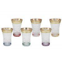 Набор: 6 стаканов для воды Цветная Флоренция, SM3176/678-AL