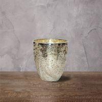 Подсвечник ROOMERS 15x13x13 см цвет твердый серебряный камень Ksa/5471