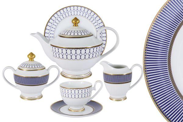 Чайный сервиз Адмиралтейский 23 предмета на 6 персон, MI2-9831-Y3_23A-AL