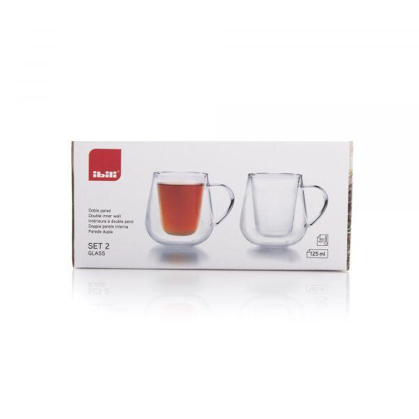 Набор термокружек для чая и кофе 125 мл IBILI Coffee&Tea, 623612