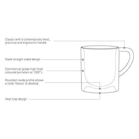 Кофейная пара LOVERAMICS 80 мл фарфоровая цвет мятный C098-42BMT/C098-43BMT