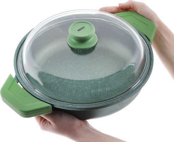 Литой сотейник с крышкой Risoli Dr Green 28 см, 00099DR/28GS