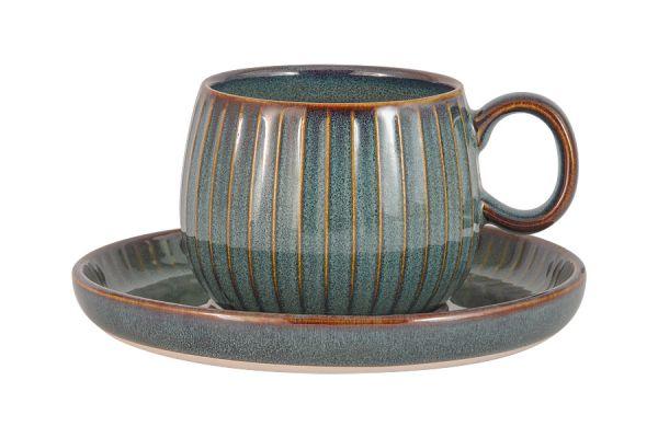 Чашка с блюдцем Comet (морская волна) в индивидуальной упаковке, JV-HL863260