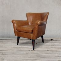 Кресло ROOMERS 79x80x81 см цвет коричневый S0117-1D/brown #35