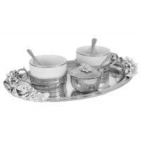 Чайный набор на 2 персоны: поднос, 2 чашки, 2 ложки, сахарница с ложкой, GA-VEN2007