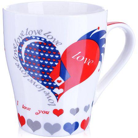 Кружка Loraine «Любовь» 340 мл фарфоровая 8х10,3 см в подарочной упаковке 28221
