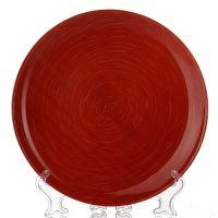 Тарелка обеденная СТОУНМАНИЯ РЕД, диаметр 25 см