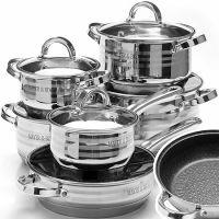Набор посуды 12 предметов (2,1+2,1+2,9+2,9+3,9+6,6л), Mayer&Boch, 27291