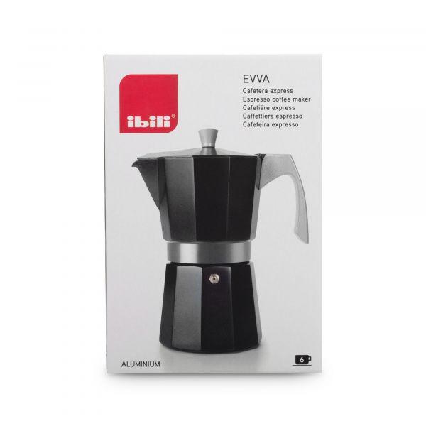 Кофеварка гейзерная на 9 чашек для всех типов плит IBILI Evva, цвет черный, 623109