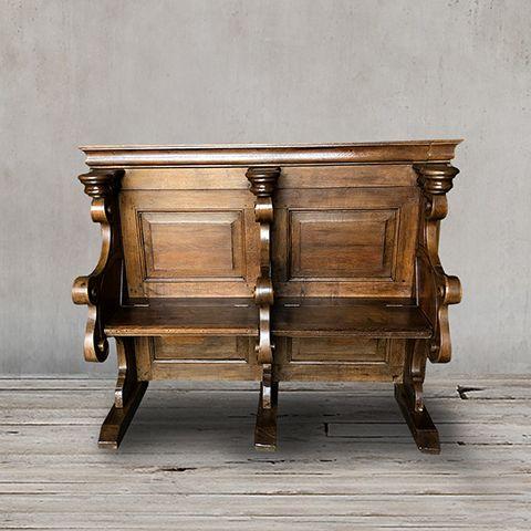 Церковная скамья 19 век Франция ROOMERS ANTIQUE, AW-FC BENCH