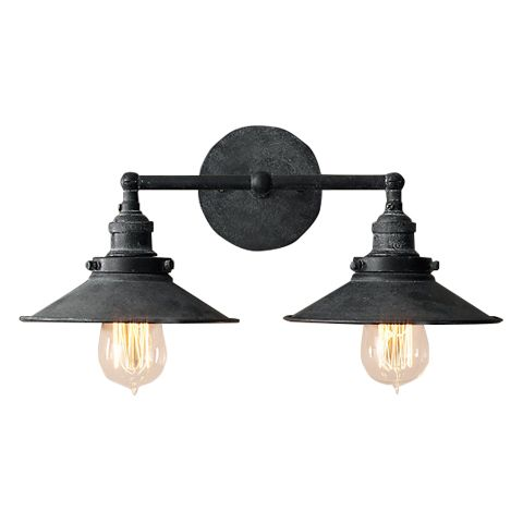 Светильник RESTORATION HARDWARE «Скон Дабл» 16x23x38 см цвет античный серый DTL9104
