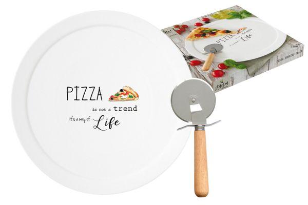 Набор для пиццы: блюдо и нож Kitchen Elements в подарочной упаковке, EL-R1919_KITE