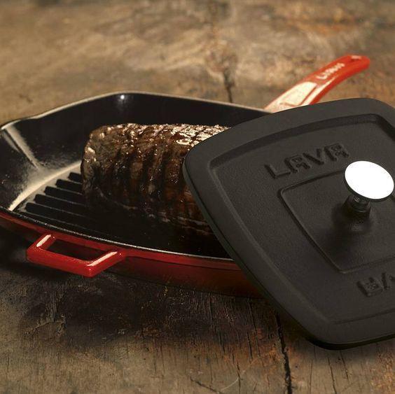 Литой чугунный пресс для цыпленка табака LAVA ECO 21x21 см