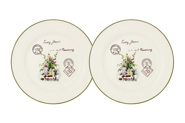 Набор десертных тарелок Anna Lafarg LF Ceramics «Букет» 2 шт AL-55E2258-3-B-LF