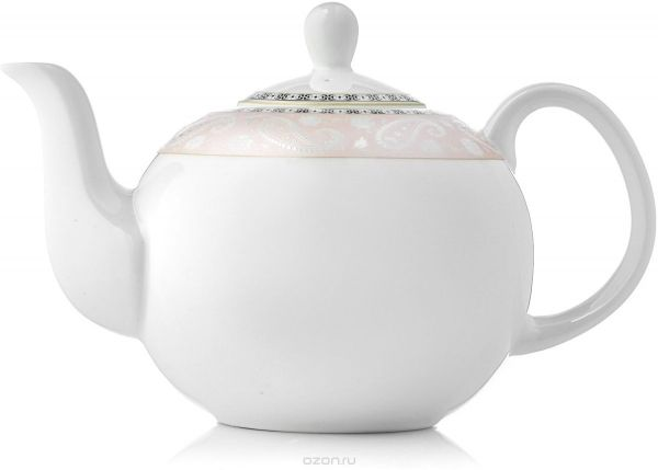 Заварочный чайник, 1220 мл, костяной фарфор, Arista Rose, Esprado