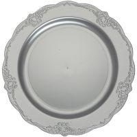 "Тарелка ""Винтаж"" 23 см серебро, 10шт Mayer&Boch, 14268"