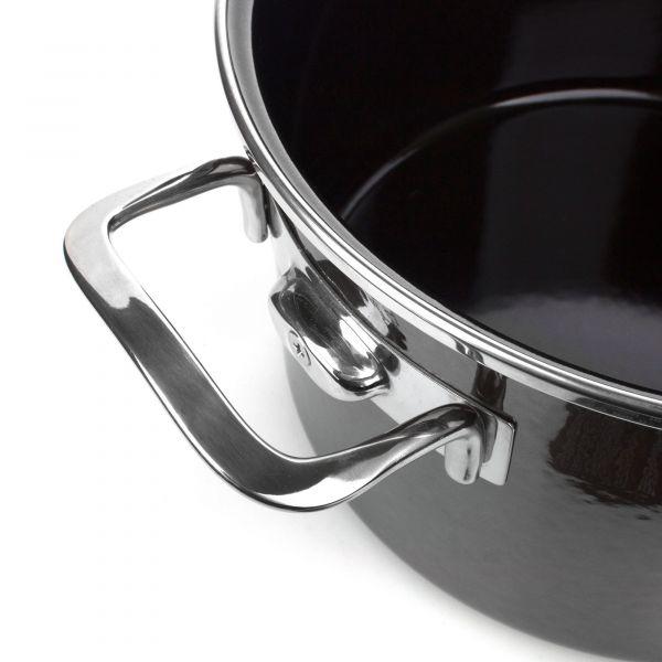 Кастрюля KOCHSTAR Metallica SOLID эмалированная 6,1 л диаметр 24 см, высота 14,5 см со стеклянной крышкой цвет-темно-серый 5000981124