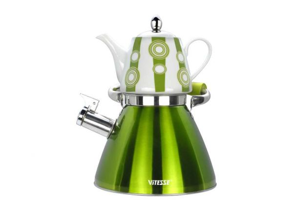 Набор чайников Vitesse цвет зеленый VS-7812 GREEN