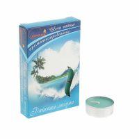 Свечи CHAMELEON «Райская лагуна» 6 шт 1,5 см ароматизированные чайные в гильзе MNC00-60