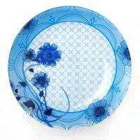 Тарелка плоская Голубые цветы 25*1.9 см