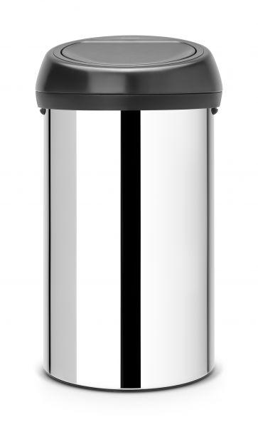 Мусорный бак Brabantia TOUCH BIN 60 л цвет стальной полированный 402586