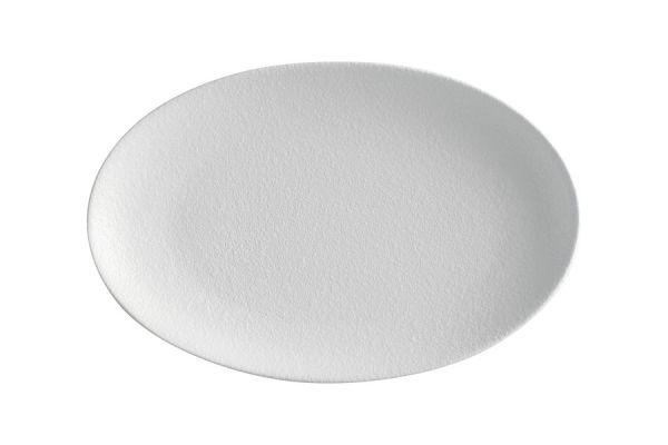 Тарелка овальная малая Икра (белая) без индивидуальной упаковки, MW602-AX0243